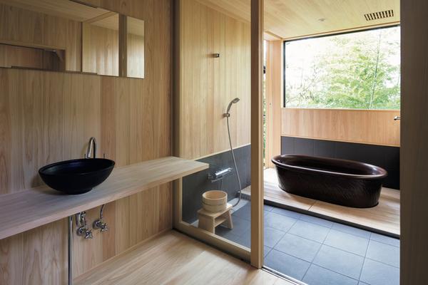 旅館みたいなお風呂あります。築40年の民家をリノベ