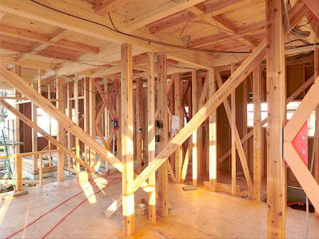 構造・工法・仕様 木材軸組工法を採用  日本の気候風土により生まれた工法で、古くから使われている工法。
