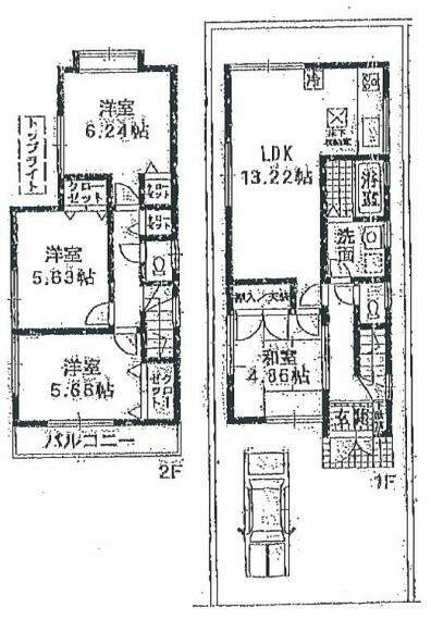 間取り図 東側公道6mに面す!!