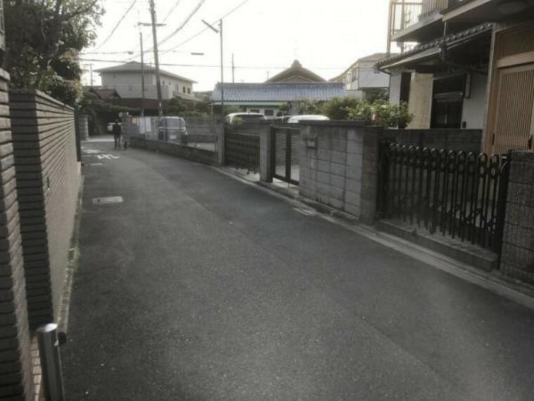 現況写真 前面道路は車通が少なく静かでお子様にも安全な環境です!