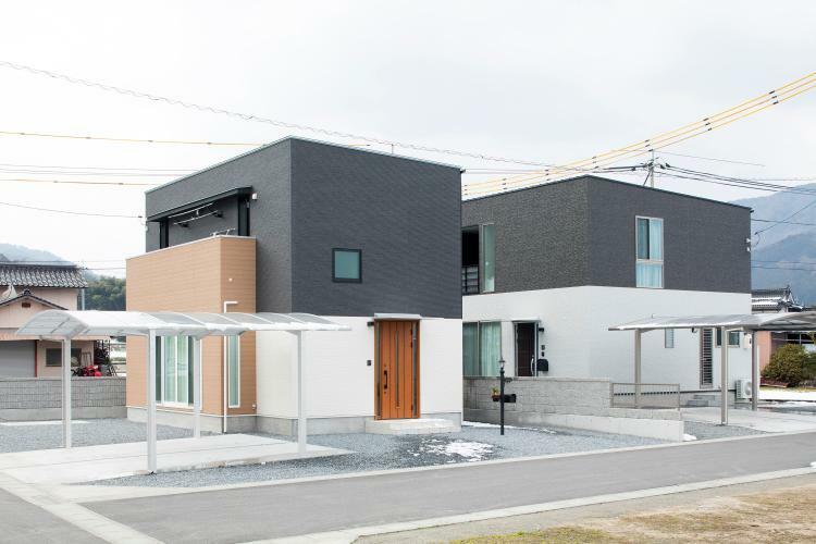 参考プラン完成予想図 施工例 シャープなデザインが印象的な洗練された住まい!(^^)!ぜひ一度モデルハウスをご覧ください!!