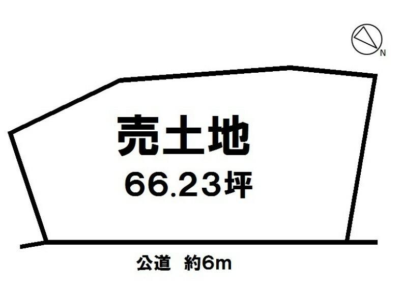 土地図面 土地66.23坪