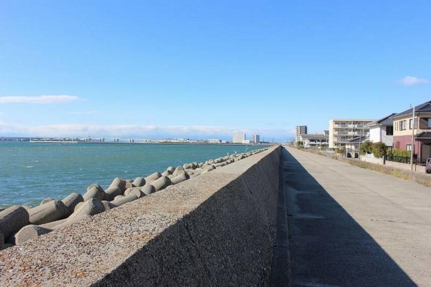 海まで歩いて行けます  お散歩にもおススメな環境です。
