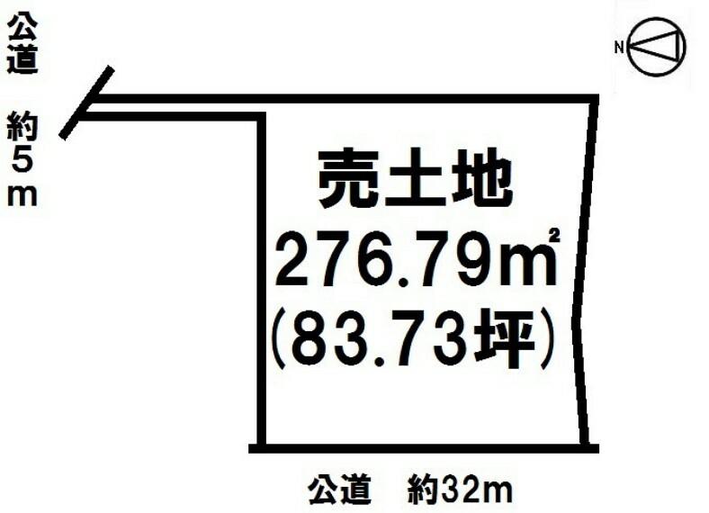 土地図面 常滑市小鈴谷堀切 83.73坪。