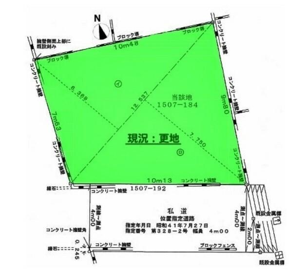 土地図面 「柳瀬川」駅徒歩15分