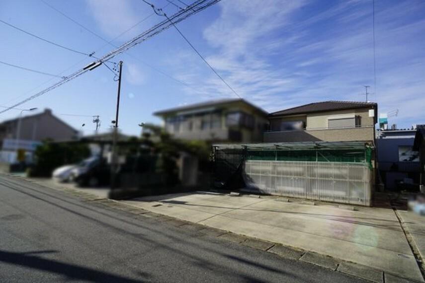 現況写真 前面道路を現地写真(2018年12月25日撮影)