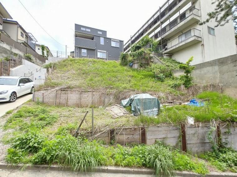 現況写真 閑静な住宅街にマイホームが建てられます!