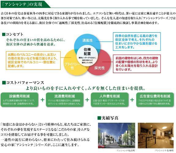 構造・工法・仕様 「通風」「採光」「プライバシー」 それぞれ住まいの質を高めるために街区全体の計画から快適を追究します。