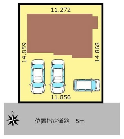 区画図 駐車スペース三台