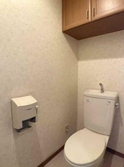 トイレ 上部収納付!