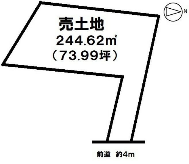 土地図面 市立病院前駅まで徒歩約7分!【土地面積約244平米】現状更地・建築条件なし!ご相談下さい!