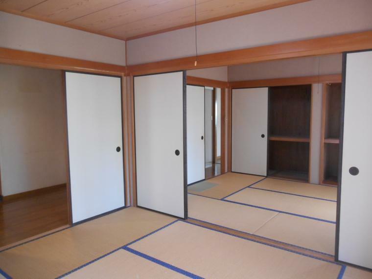 和室 二間続きで広くも使える和室