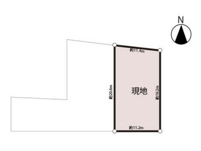 区画図 間口約11mの出入りしやすい立地。