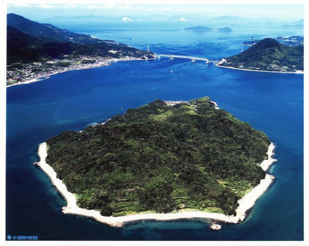 現況写真 笠佐島航空写真 雄大な敷地で アイラドテラピー計画中