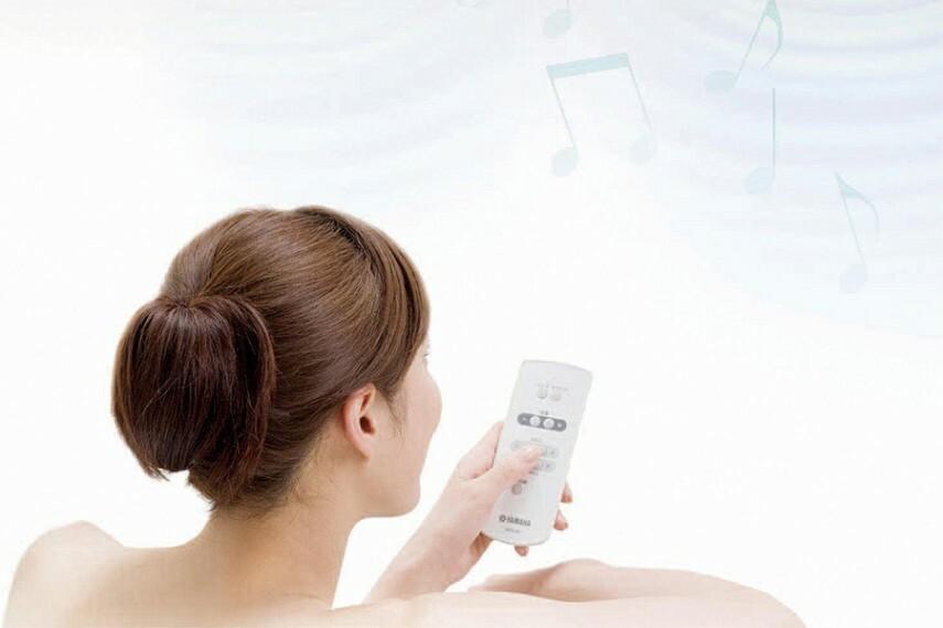 サウンドシャワー  お気に入りの音楽が楽しめる浴室音響システム付き、臨場感あふれる音に包まれて、バスタイムの楽しさが広がります。