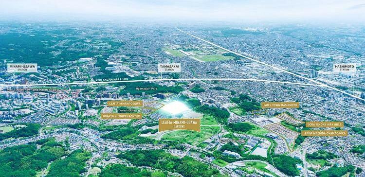 現況写真 ※掲載の航空写真は、現地周辺の空撮写真(2018年5月撮影)にCG加工処理を施したもので、実際とは異なります