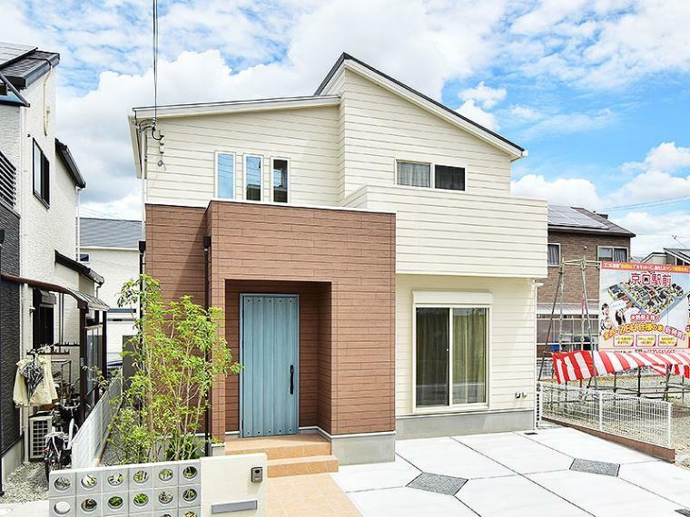 現況外観写真 【ZEH+IOT住宅仕様付】18号地モデルハウス 総額3,382万円(消費税込、外構、植栽、ガーデニング付)