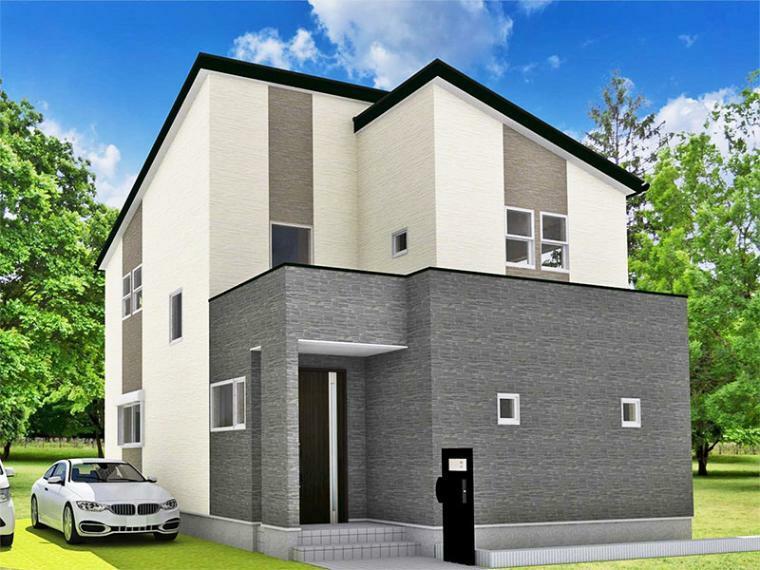 完成予想図(外観) 【ZEH+IOT住宅仕様付】24号地モデルハウス完成予想パース