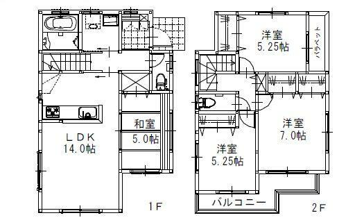 参考プラン間取り図 1号地 建物参考価格:1,336.5万円