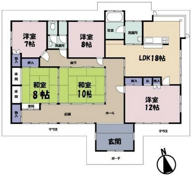 間取り図 土地面積:772.66平米(233.73坪) 建物面積:190.03平米(57.48坪)