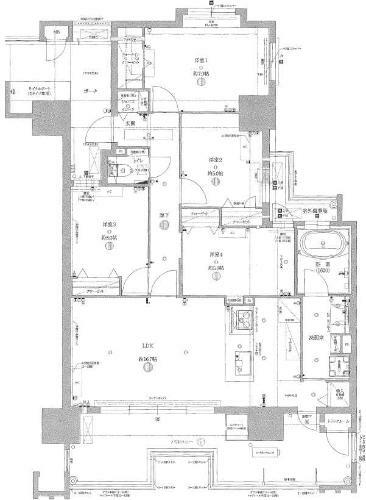 間取り図 最上階の東南角部屋で採光・眺望・通風良好!新築未入居物件!4LDK+SIC+TR+WIC!