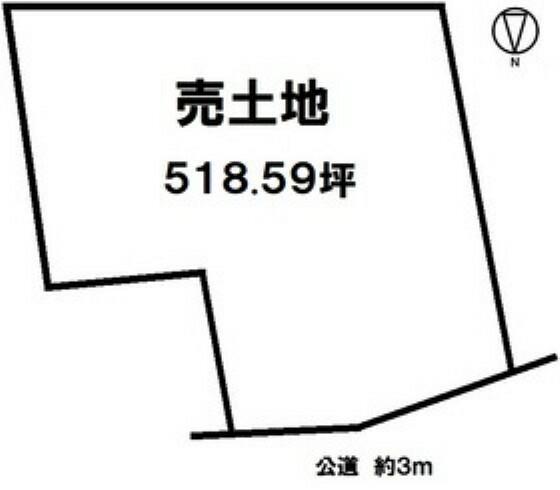 土地図面 JR武豊線 乙川駅まで徒歩8分 【建築条件なし】お庭や駐車場も設けられるゆとりの518.59坪売土地