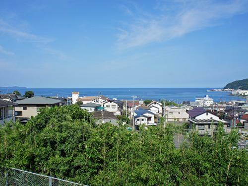外観写真 高台から望む水平線