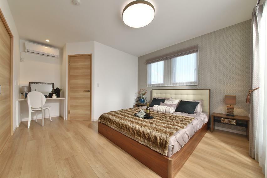 寝室 モデルハウス 主寝室
