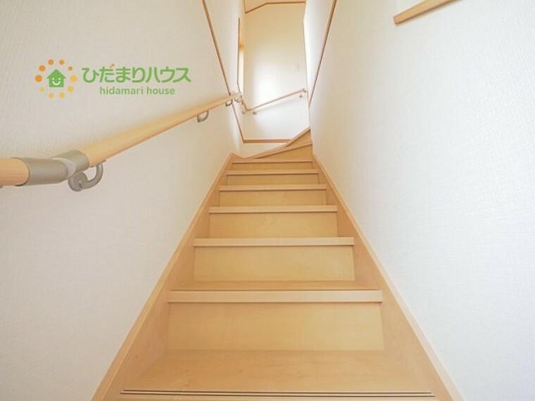 安心の手すり付き階段