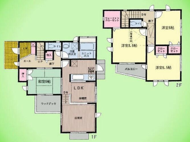 間取り図 4LDK、土地面積150.20平米、建物面積106.40平米