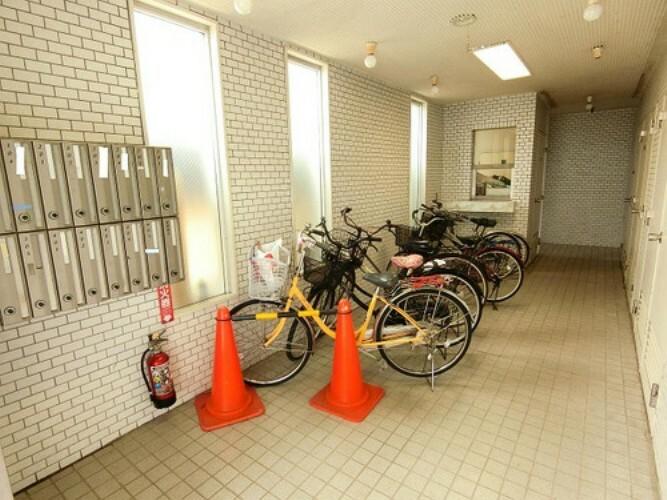 自転車置き場です。