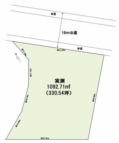 土地図面 330.54坪