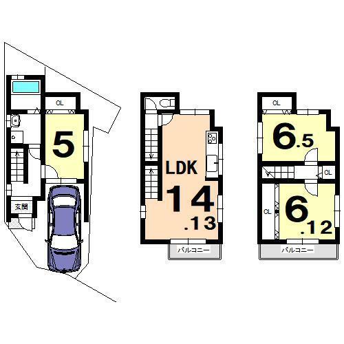 区画図 参考プラン 建物価格:1550万円 建物面積:87.74平米