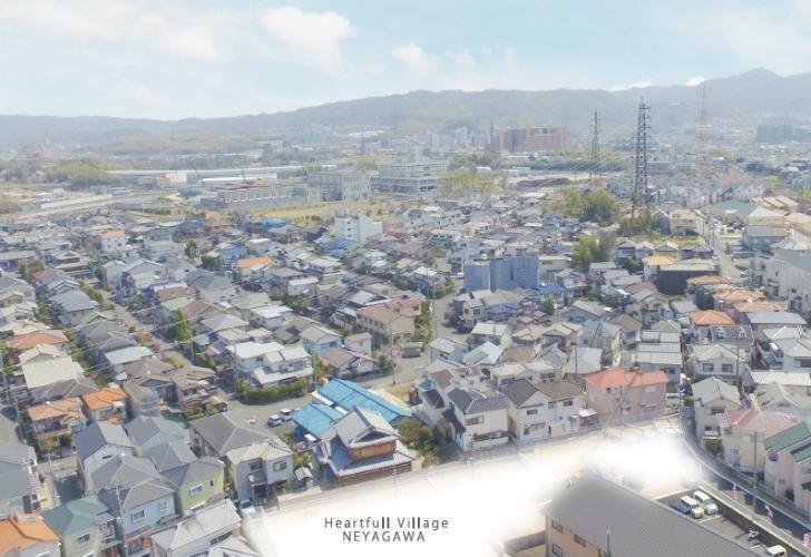 現況外観写真 【航空写真】 寝屋川・太秦の閑静な一角に誕生する11の私邸