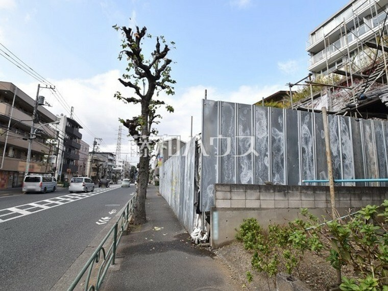 現況写真 接道状況および現場風景 【世田谷区成城1丁目】