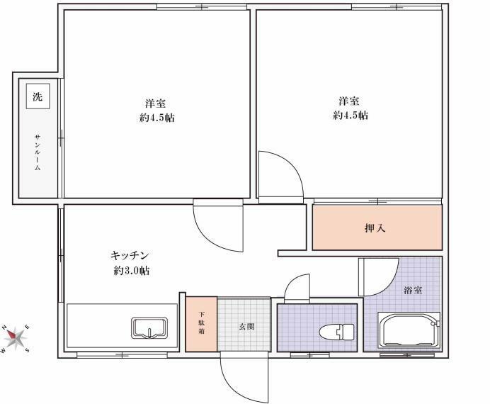 間取り図 オーナーチェンジ物件です。最上階・サンルーム付きマンションです!