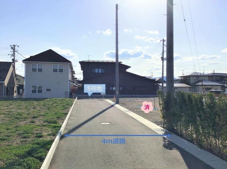 現況写真 前面道路(私道)  ※北東方向より撮影 ※2021年4月撮影