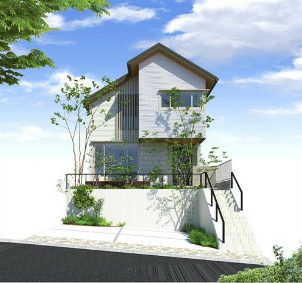 現況写真 土地価格 5220万円 建物価格 約4500万円 建物本体価格、消費税10%込