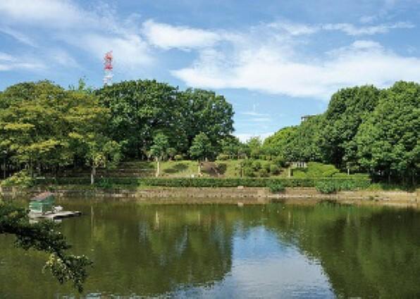 公園 昔は葦が生い茂っていた沼地でした。野球場やテニスコートを完備しています。(鹿沼公園/約1770m・徒歩23分/2018年9月撮影)