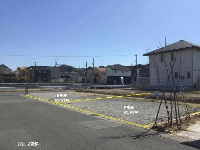 現況写真 9号地北西角から撮影(2021年2月) (手前から9号地、奥10号地)