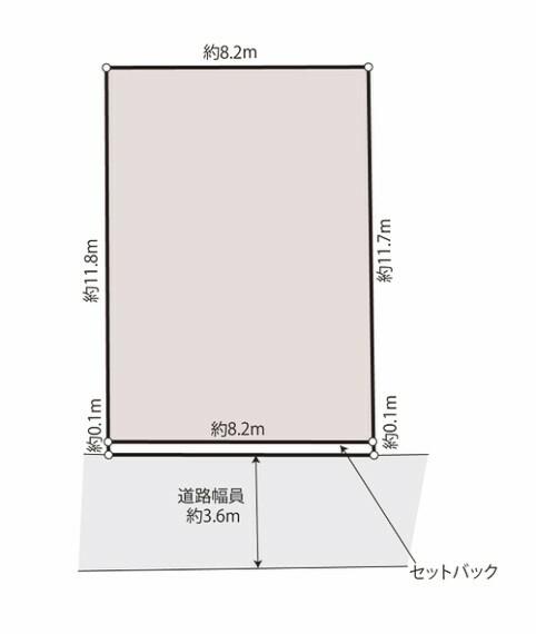区画図 建物のプランを描きやすい整形地です。