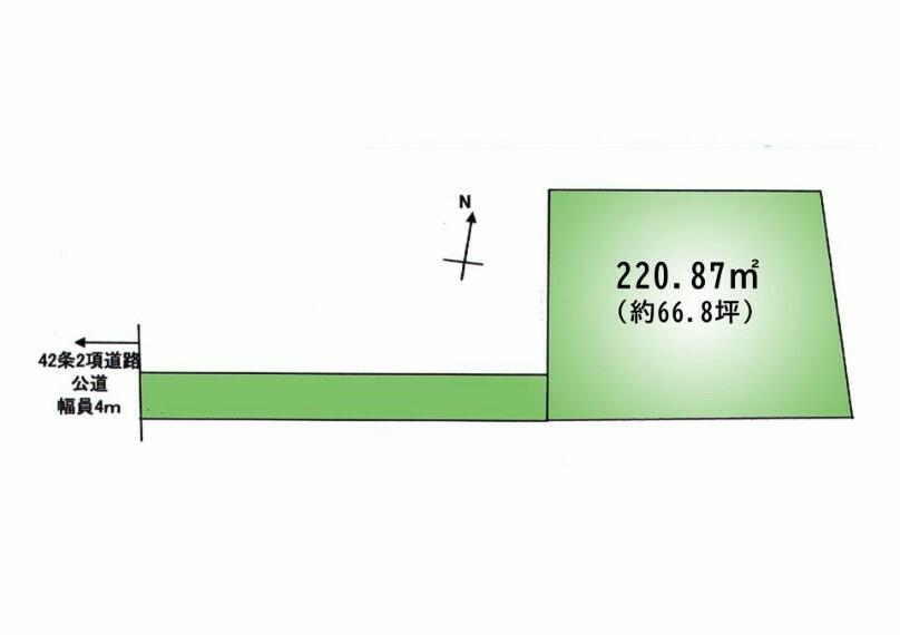 区画図 敷地ひろびろ66坪以上。ゆとりある夢のマイホームを建ててみませんか^^