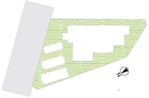土地図面 お車は並列駐車3台分有り(車種による)!太陽光6.74kw搭載のエコなお家です!