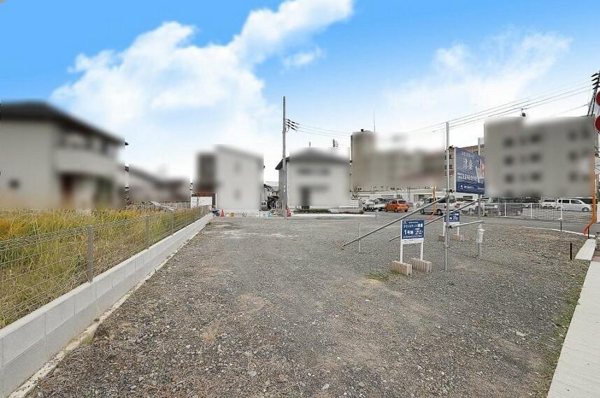 現況写真 2方向道路で風通しが良い1号地。2台分停められる駐車場を確保したプランが可能です。1号地(令和元年12月撮影)【土地価格】1198万円