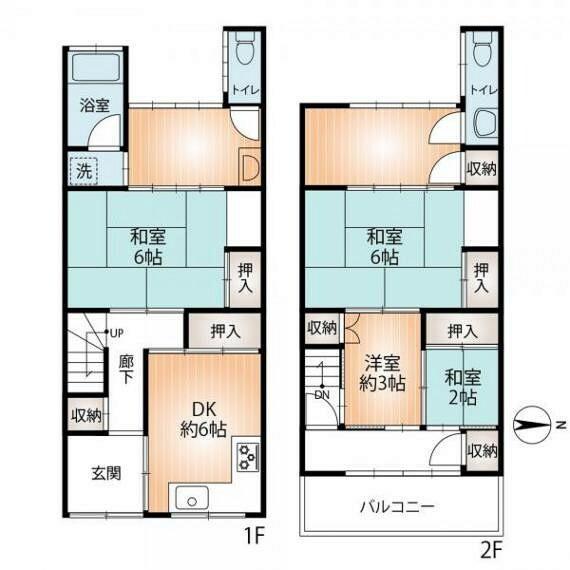 間取り図 部屋数が多く、ゆったりとしているのが魅力です。 居住用としてはもちろん民泊にいかがですか?