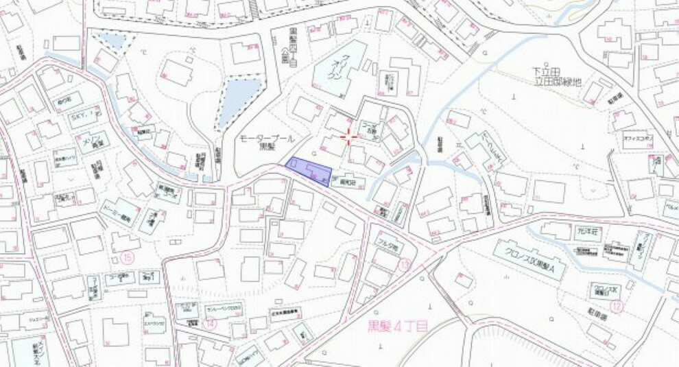 熊本大学裏の静かな住宅街