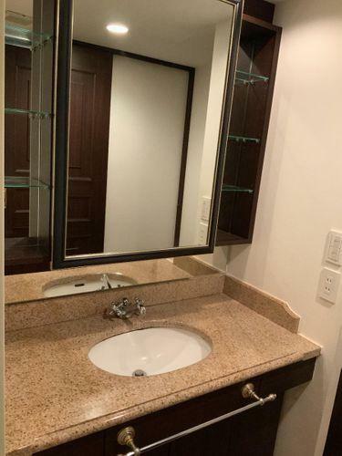 洗面化粧台 ゆったりスペースの洗面台!