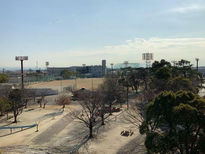 眺望 目の前に公園が広がっていて気持ちがいいですね!