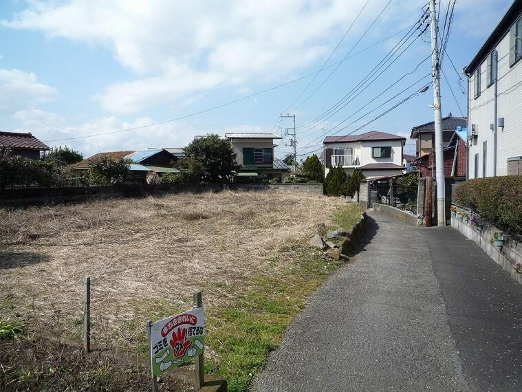 現況写真 小田原市小八幡、全2区画のうちB区画の分譲売地です。