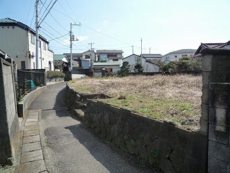 現況写真 小田原市小八幡エリア、全2区画のうちA区画の分譲売地です。